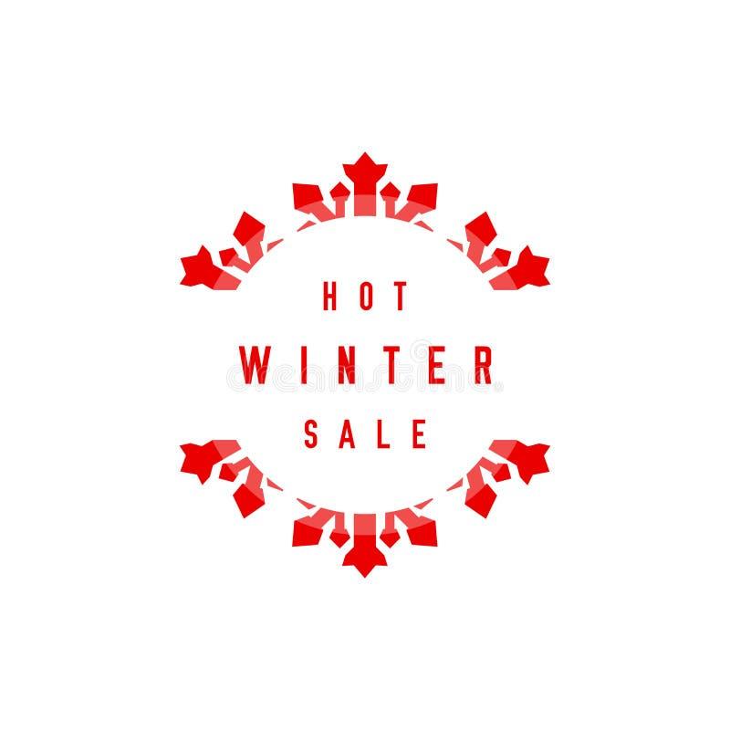 Varm vinterSale etikett Stor snowflake Glad jul och lyckligt nytt ?r ocks? vektor f?r coreldrawillustration vektor illustrationer
