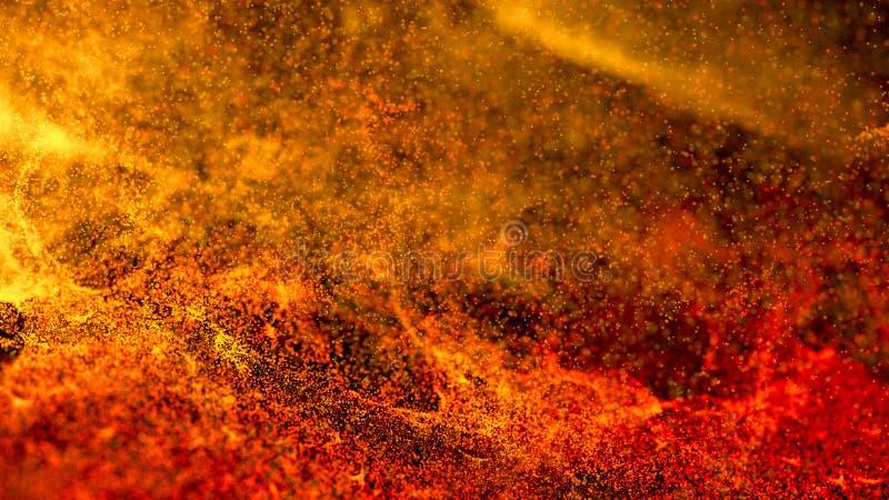 Varm vulkanisk Magma, Lava Background vektor illustrationer