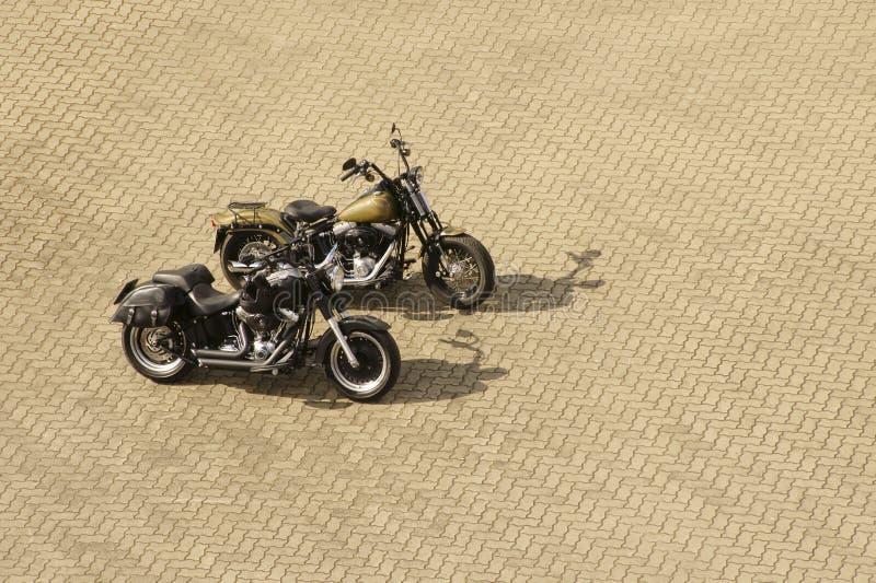 Varma motorcyklar fotografering för bildbyråer