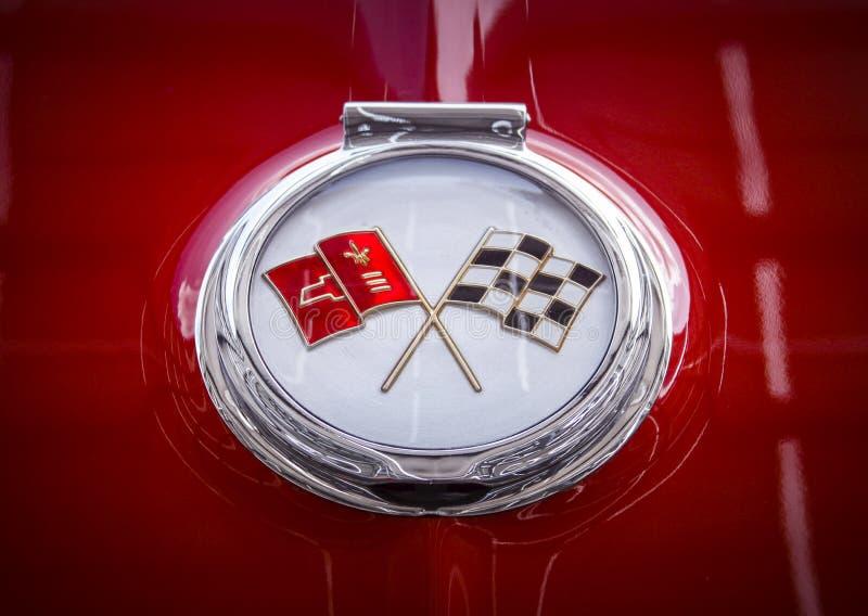 Varma Rod Red Corvette Sting Ray royaltyfri fotografi