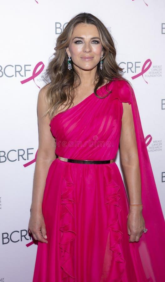 Varma rosa partiankomster f?r BCRF 2019 arkivbild