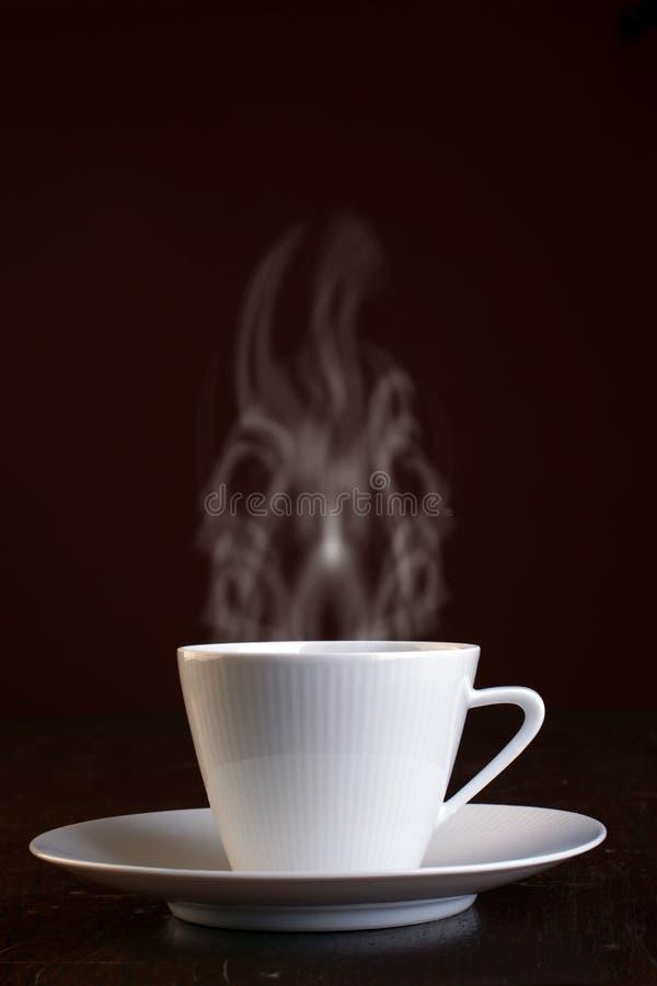 varmt ånga för kaffekopp arkivbild