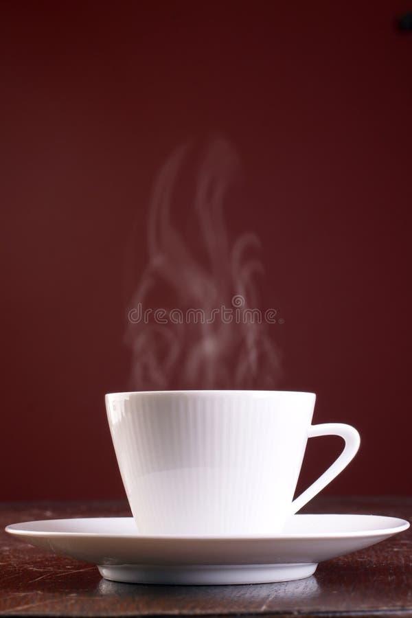 varmt ånga för kaffekopp royaltyfria foton