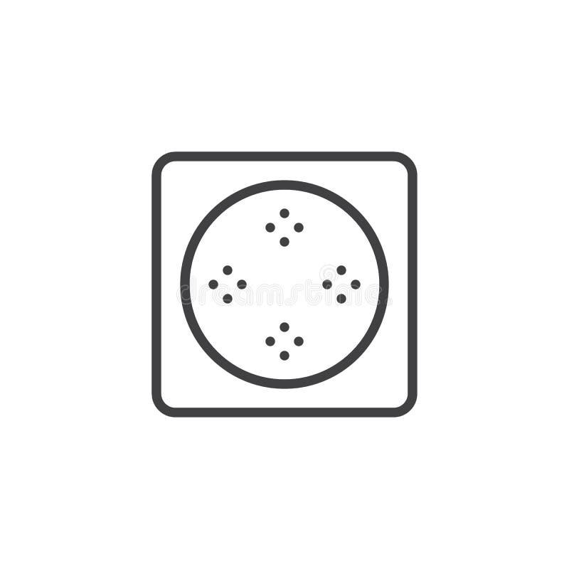 Varmt bada översiktssymbolen för den bästa sikten vektor illustrationer