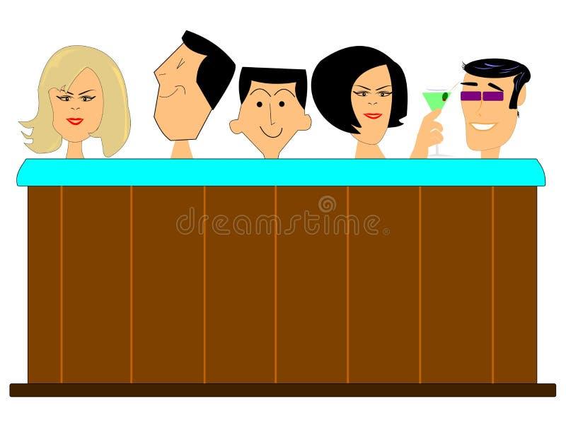 Varmt bada vektor illustrationer