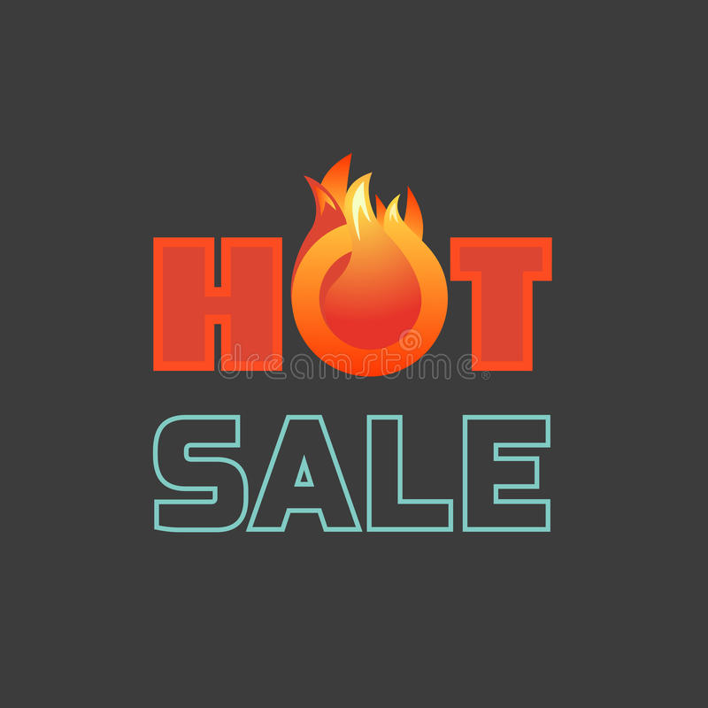 Varmt erbjudande för försäljningspris stock illustrationer
