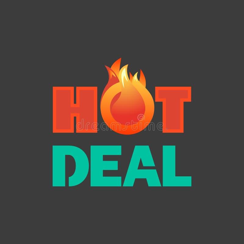 Varmt erbjudande för försäljningspris royaltyfri illustrationer