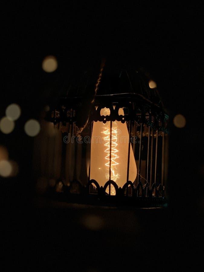 Varmt gl?d av en volframlampa fotografering för bildbyråer