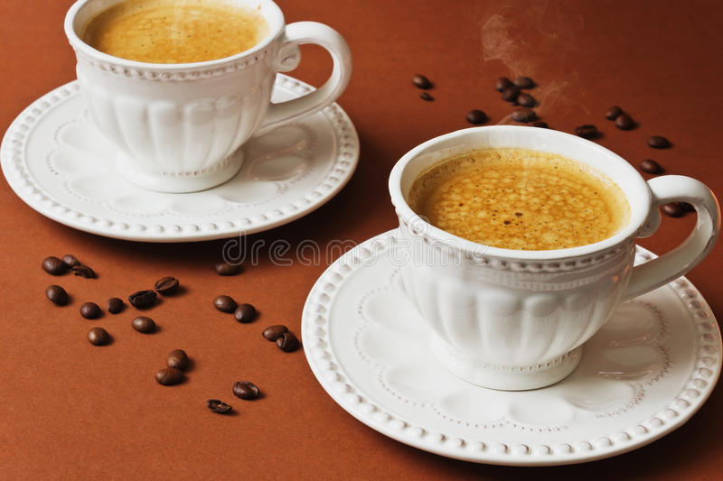 varmt kaffe royaltyfri fotografi