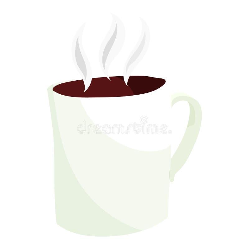 Varmt kaffe rånar symbolen, tecknad filmstil vektor illustrationer