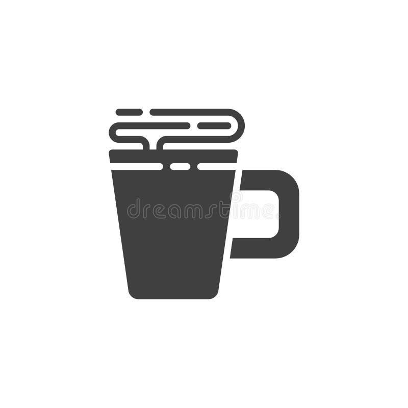 Varmt kaffe r?nar vektorsymbolen stock illustrationer