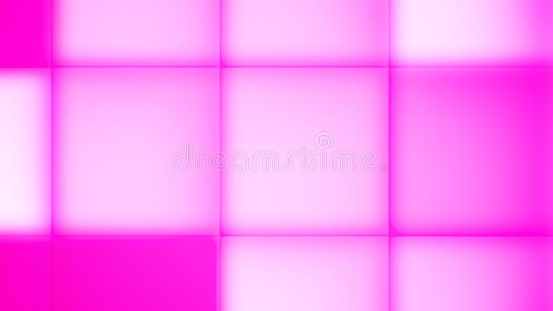 Varmt och Pale Pink Led Buttons stock illustrationer