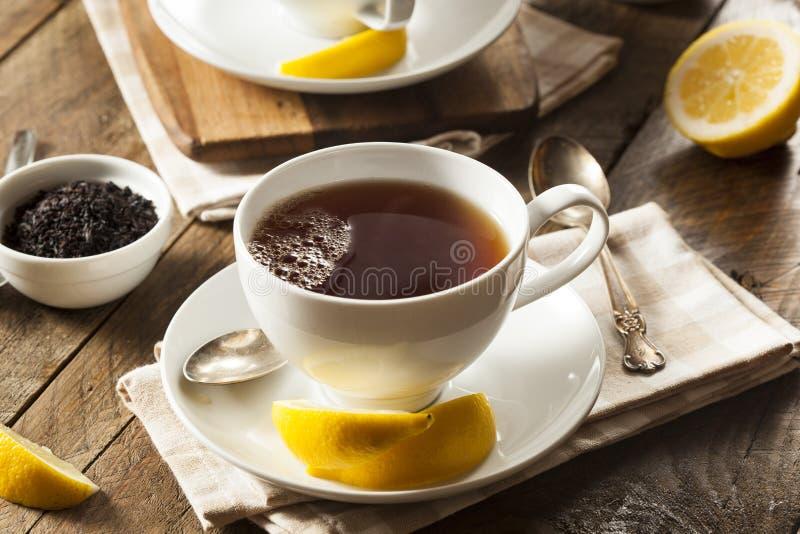 Varmt organiskt svart te arkivbilder