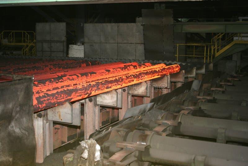 varmt stål arkivbild