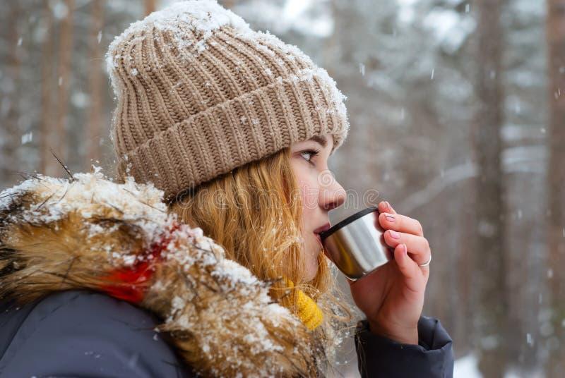 Varmt te på en frostig dag royaltyfri foto