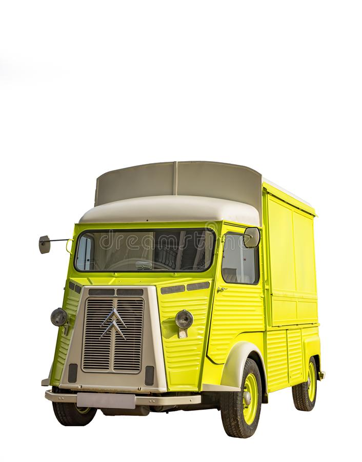Restored H-type Citroen delivery van. stock image