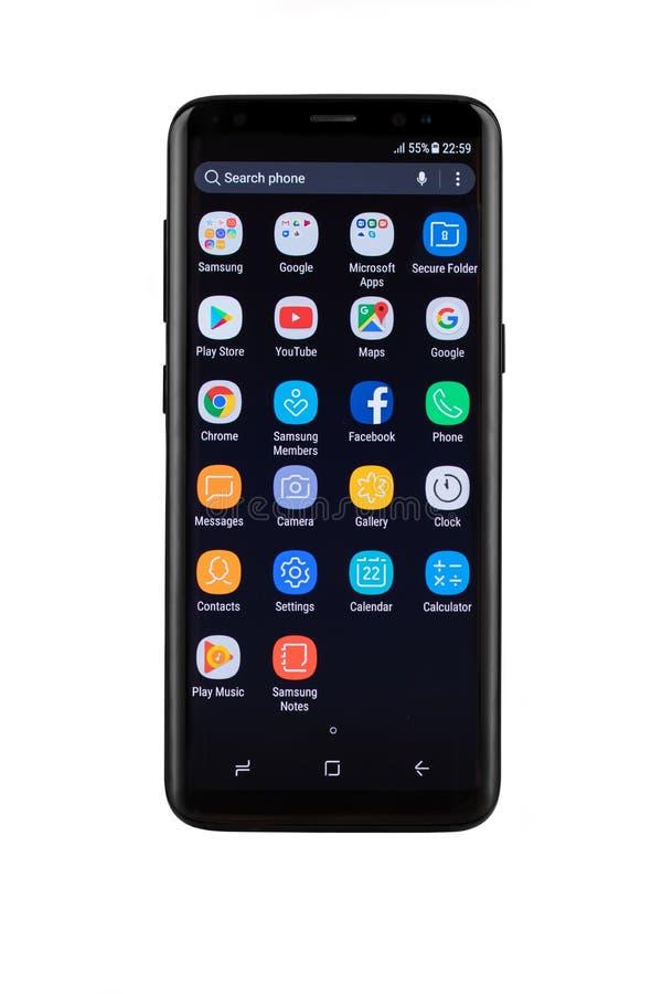Free Varna, Bulgaria - May, 11, 2017: Samsung Galaxy S8 Smartphone Royalty Free Stock Images - 92424879