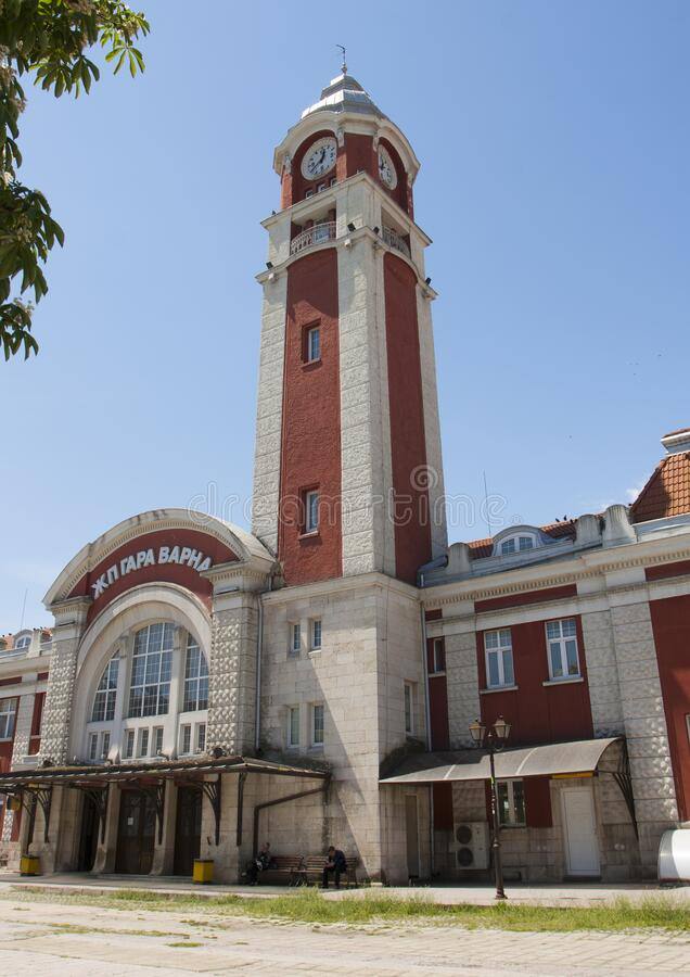 VARNA, BULGARIA - MAY 11, 2015: Railway station, Varna, Bulgaria royalty free stock images