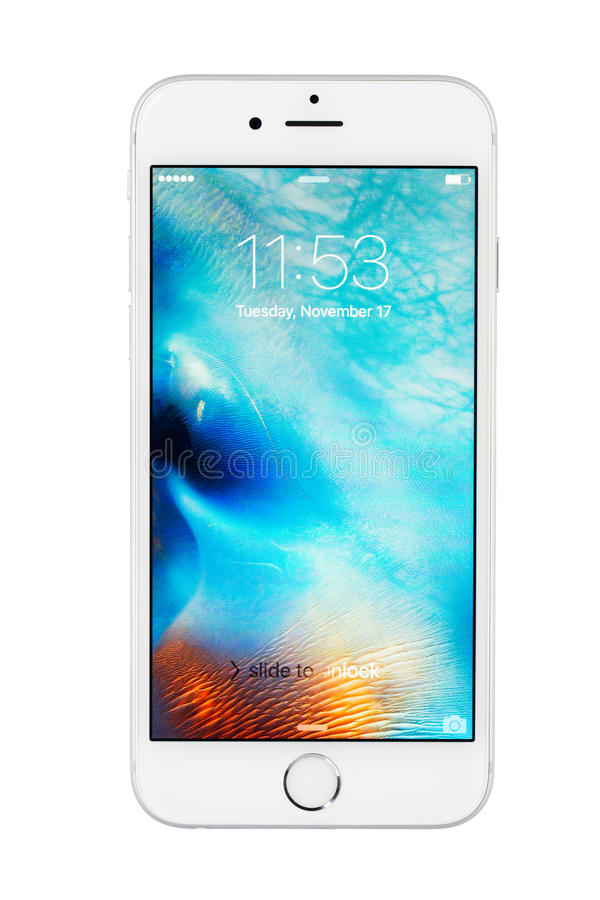 Varna, Bulgaria - November 17, 2015: Cell phone model Iphone 6s stock photography