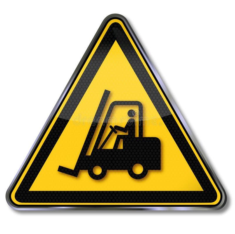 Varna för gaffeltruckar och gaffeltruck vektor illustrationer