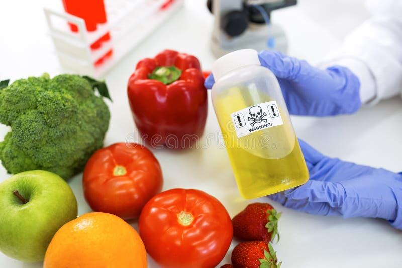 Varna faraprövkopia på mat, ändrad genetik arkivfoto