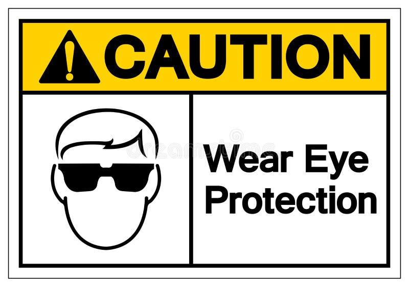 Varna tecknet för symbolet för kläderögonskydd, vektorillustrationen, isolat på den vita bakgrundsetiketten EPS10 royaltyfri illustrationer