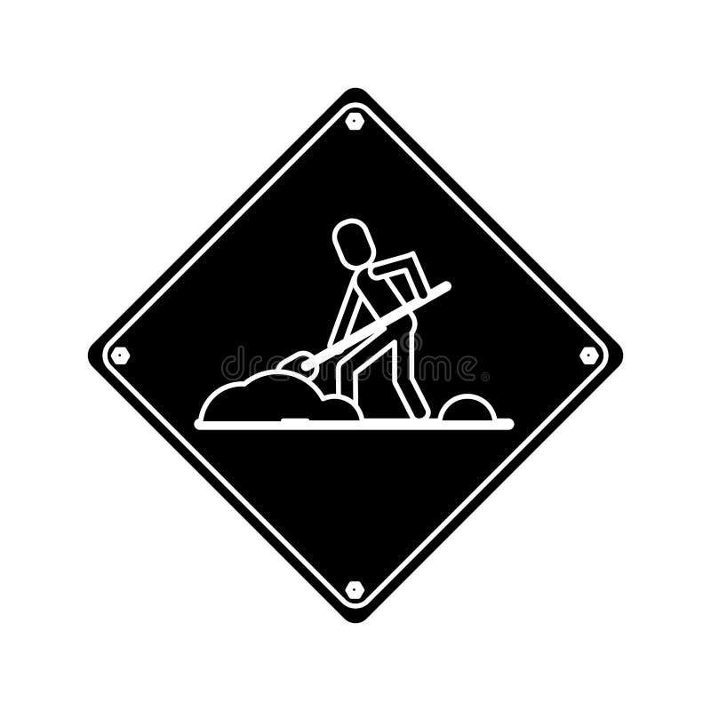Varna under pictogram för konstruktionsreparationstecken stock illustrationer