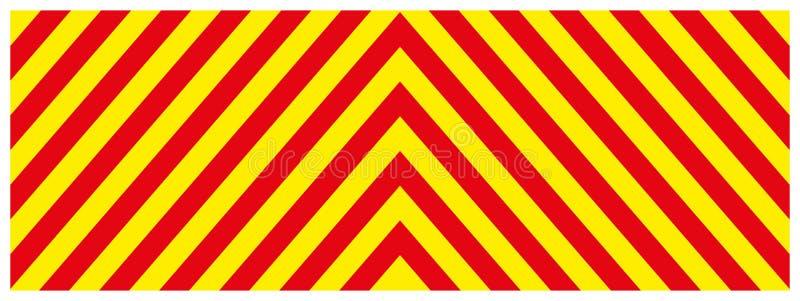 Varnande bakgrund för gul och röd färg för faratecken-, rektangel- och triangelram vektor illustrationer