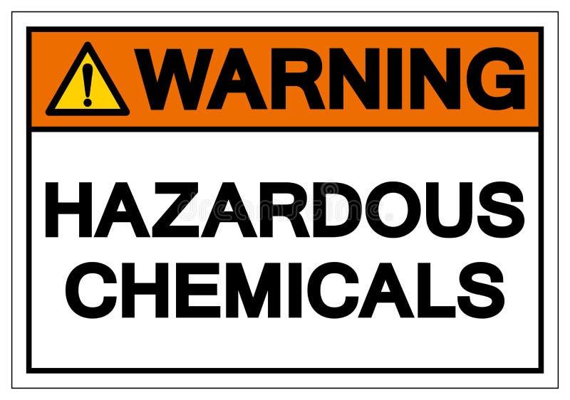 Varnande farligt tecken f?r kemikaliesymbol, vektorillustration, isolat p? den vita bakgrundsetiketten EPS10 vektor illustrationer