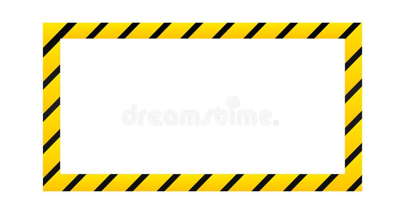 Varnande gräns för konstruktion, vektorillustration som isoleras på vit bakgrund stock illustrationer