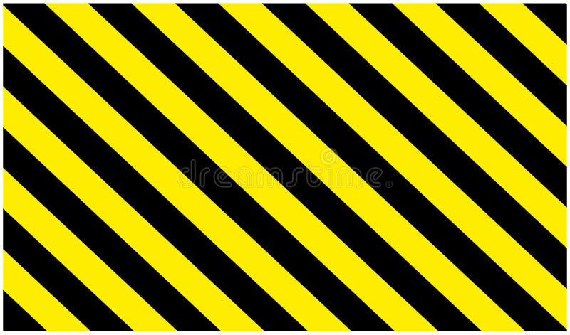 Varnande gul och svart färgbakgrund för faratecken-, rektangel- och triangelram vektor illustrationer
