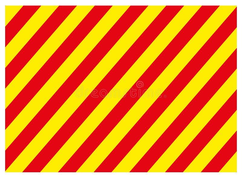 Varnande röd och gul färgbakgrund för faratecken-, rektangel- och triangelram vektor illustrationer