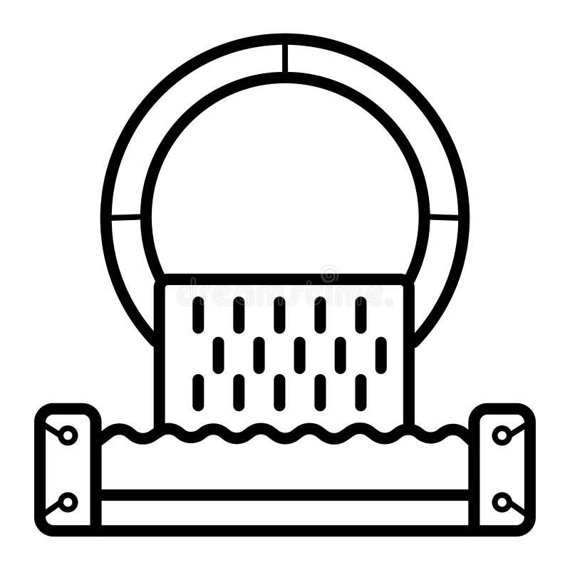 Varnande symbol för kloaktecken royaltyfri illustrationer