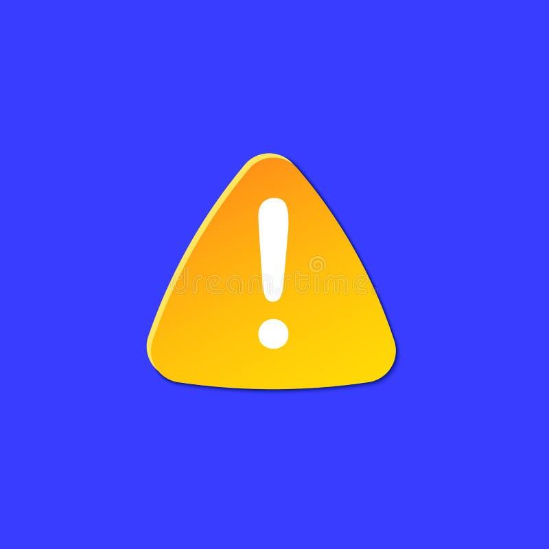 Varnande symbol för uppmärksamhet Farligt tecken för information om väderprognos Konst för snitt för säkerhetssymbolpapper Klimat vektor illustrationer