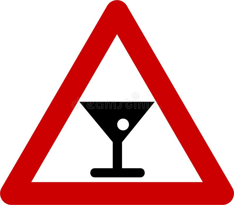 Varnande tecken med alkohol royaltyfri illustrationer