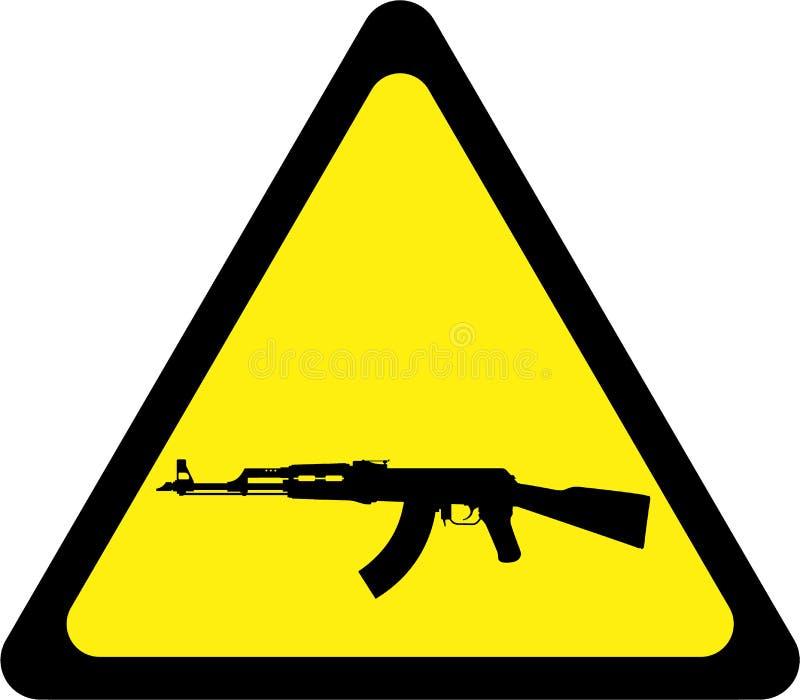 Varnande tecken med geväret vektor illustrationer