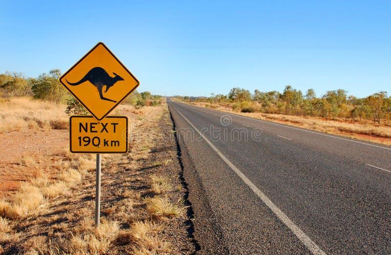 varning för Australien kängurutecken royaltyfri foto