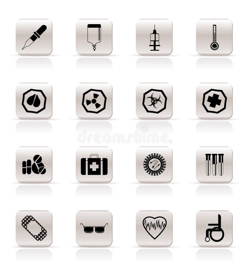 varning för medicinska tecken för symboler enkel themed vektor illustrationer