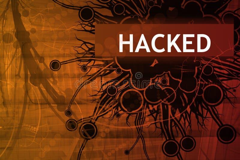 varning hackad säkerhet stock illustrationer