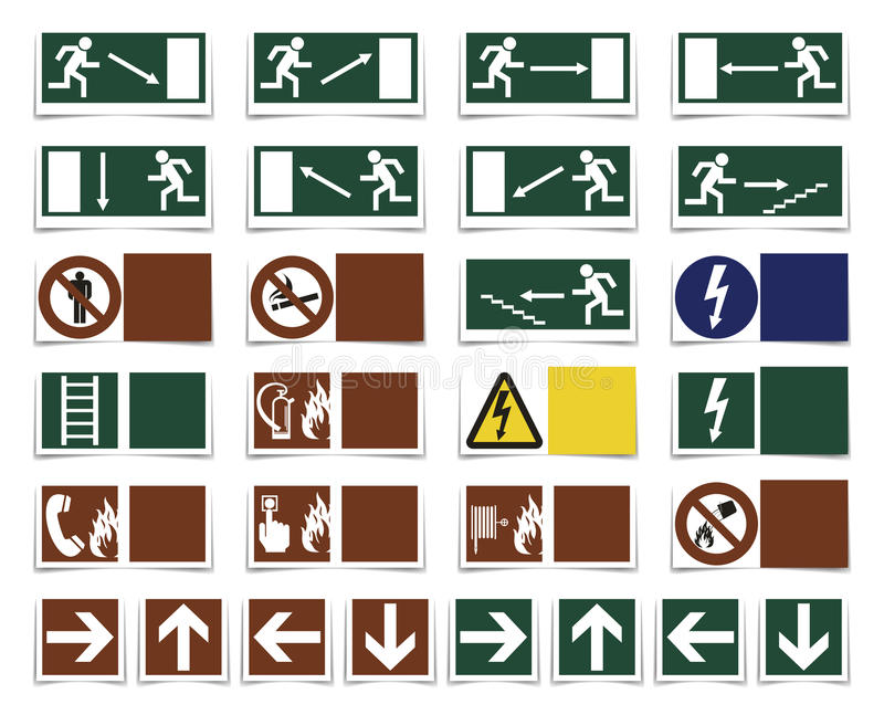 Varning symbole ilustracji
