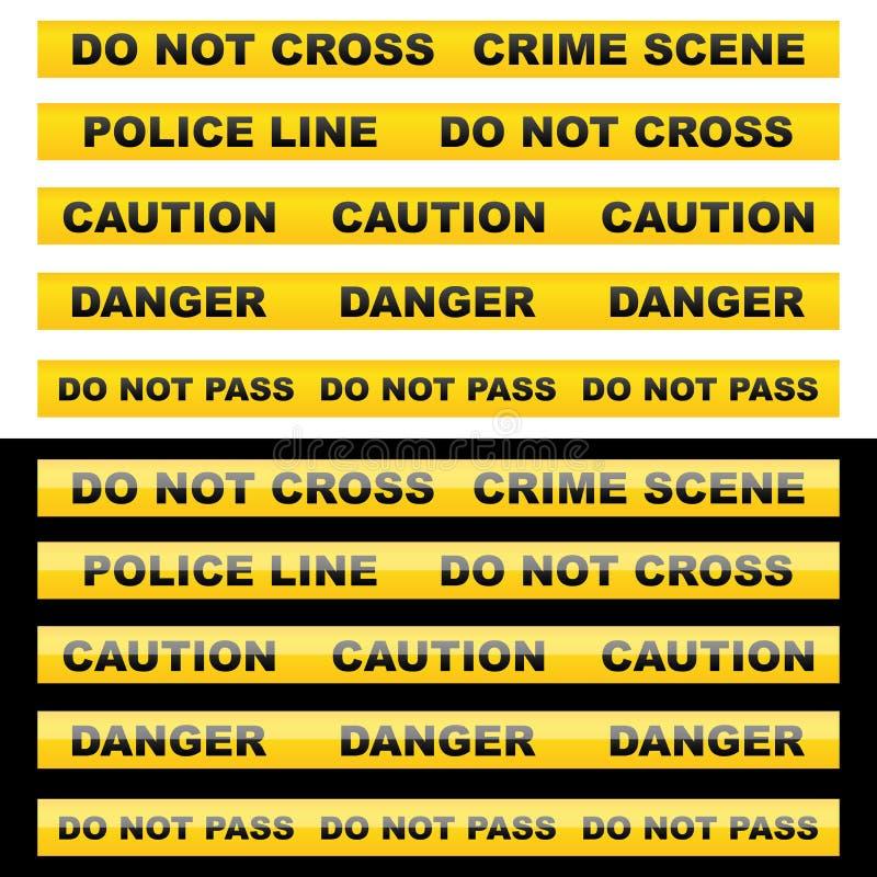 varningsband royaltyfri illustrationer