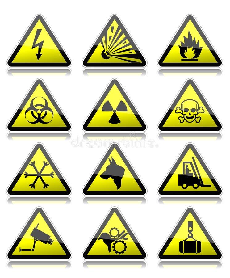 Varningstecken vektor illustrationer