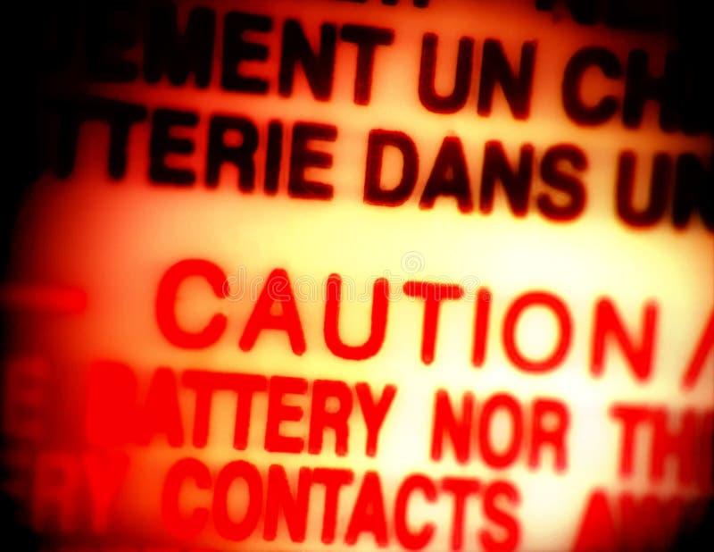 Varningstecken Royaltyfri Fotografi