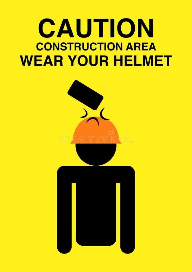 Varningstecken för konstruktionsområde stock illustrationer