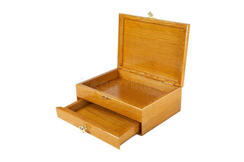 The varnished decorative casket isolated