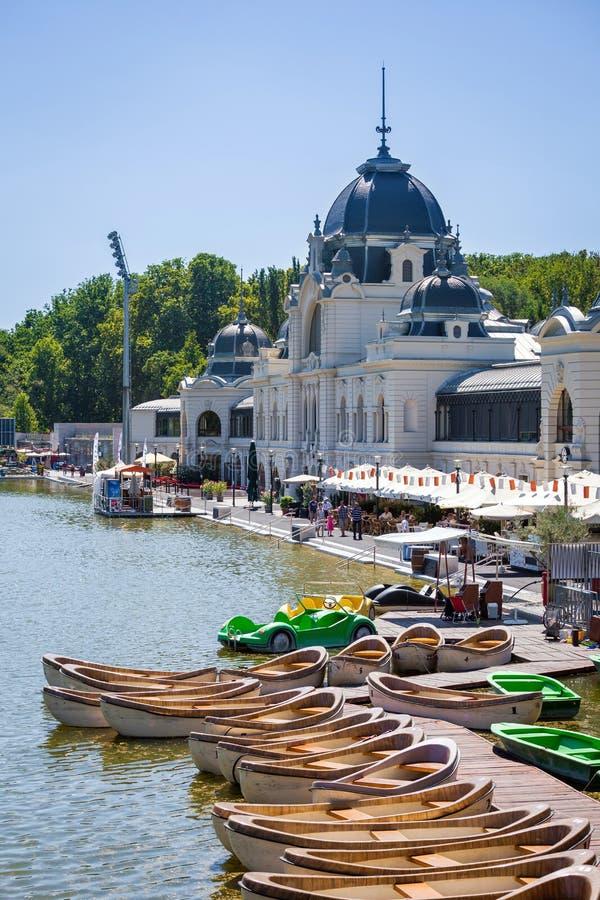 Varosliget miasta jawny park, Budapest zdjęcia royalty free