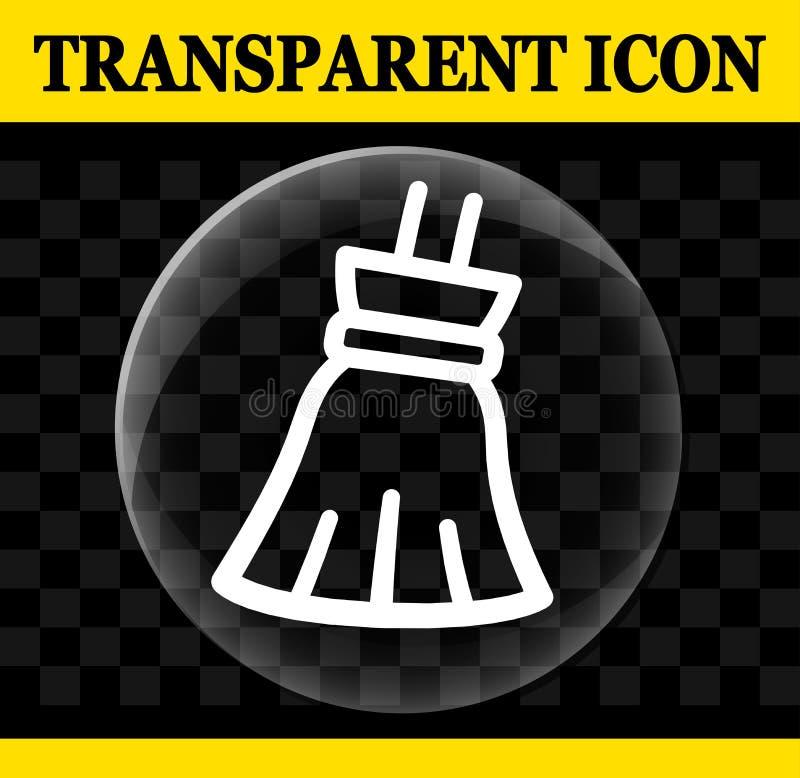 Varra o ícone transparente do círculo do vetor ilustração do vetor