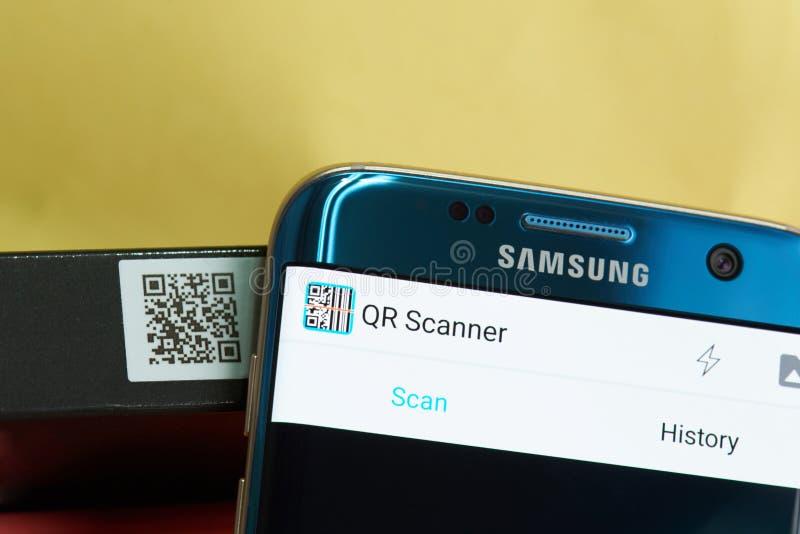 Varredor app móvel de QR foto de stock