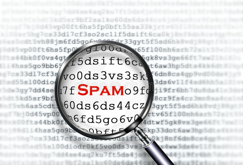 Varredor do Spam fotos de stock royalty free