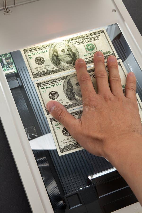Varredor e dólar fotografia de stock royalty free